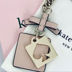 kate spade Accessories - Kate Spade Pale Pink FOB Keychain